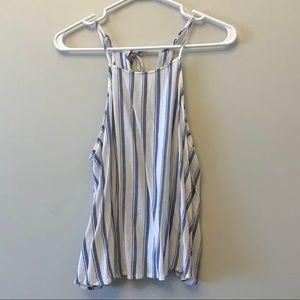 Hollister Striped Tie Back Halter Tank Top